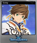 Tales of Zestiria Steam Foil Trading Card 01